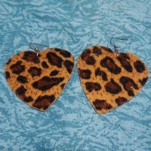 Beautiful Velvet Leopard Earrings